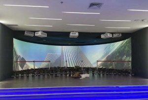 麦克赛尔DLP激光工程投影机落地某省政府人力资源展厅